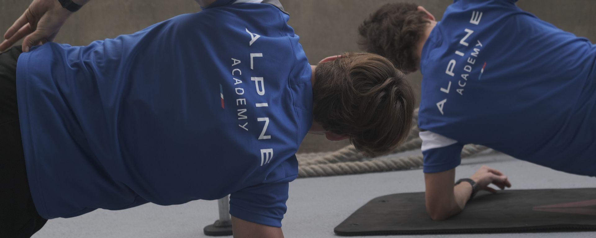 Gli allenamenti alla Alpine Academy