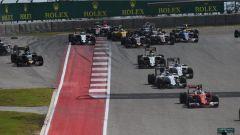 Gli attimi dopo la partenza - F1 GP USA