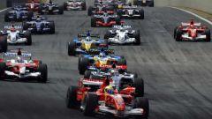 Gli attimi dopo la partenza - GP del Brasile 2006