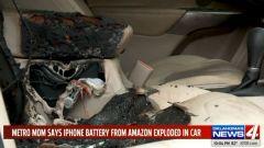Gli interni carbonizzati di Jeep Cherokee (foto di Oklahoma's News)