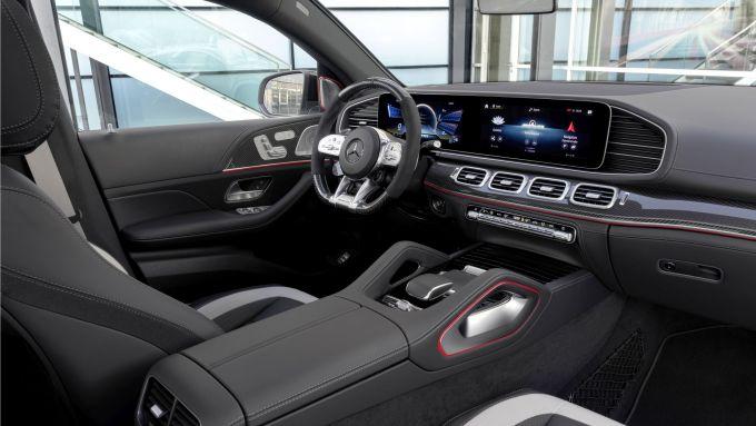 Gli interni del Mercedes-AMG GLE 63 4MATIC+ Coupé
