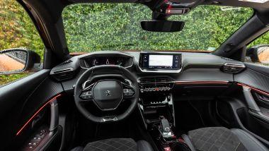 Gli interni del Peugeot 2008