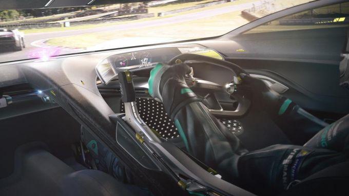 Gli interni della Jaguar Vision GT