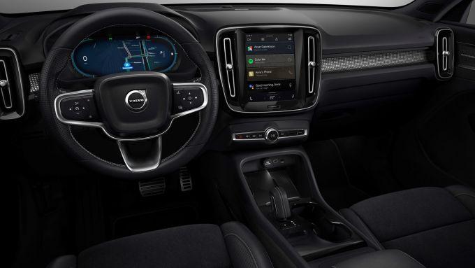 Gli interni della Volvo XC40 Recharge