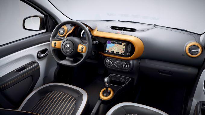 Gli interni di Renault Twingo Z.E. 2020