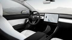 Gli interni di Tesla Model 3