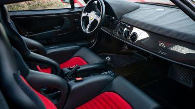 Gli interni in ottime condizioni della Ferrari F50 Berlinetta Prototipo