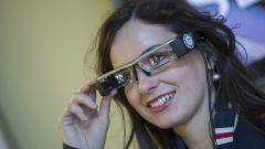Gli occhiali elettronici per gli Augmented Reality Tour all'autodromo di Monza