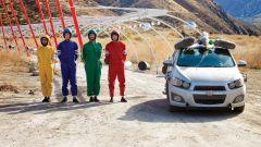 Gli OK GO sul set di Needing/Getting