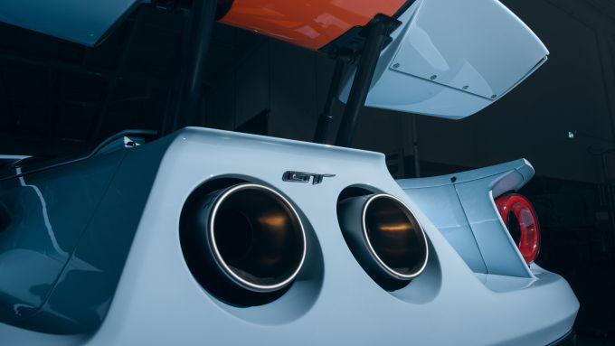 Gli scarichi della Ford GT 2020