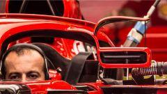Gli specchietti rialzati della Scuderia Ferrari