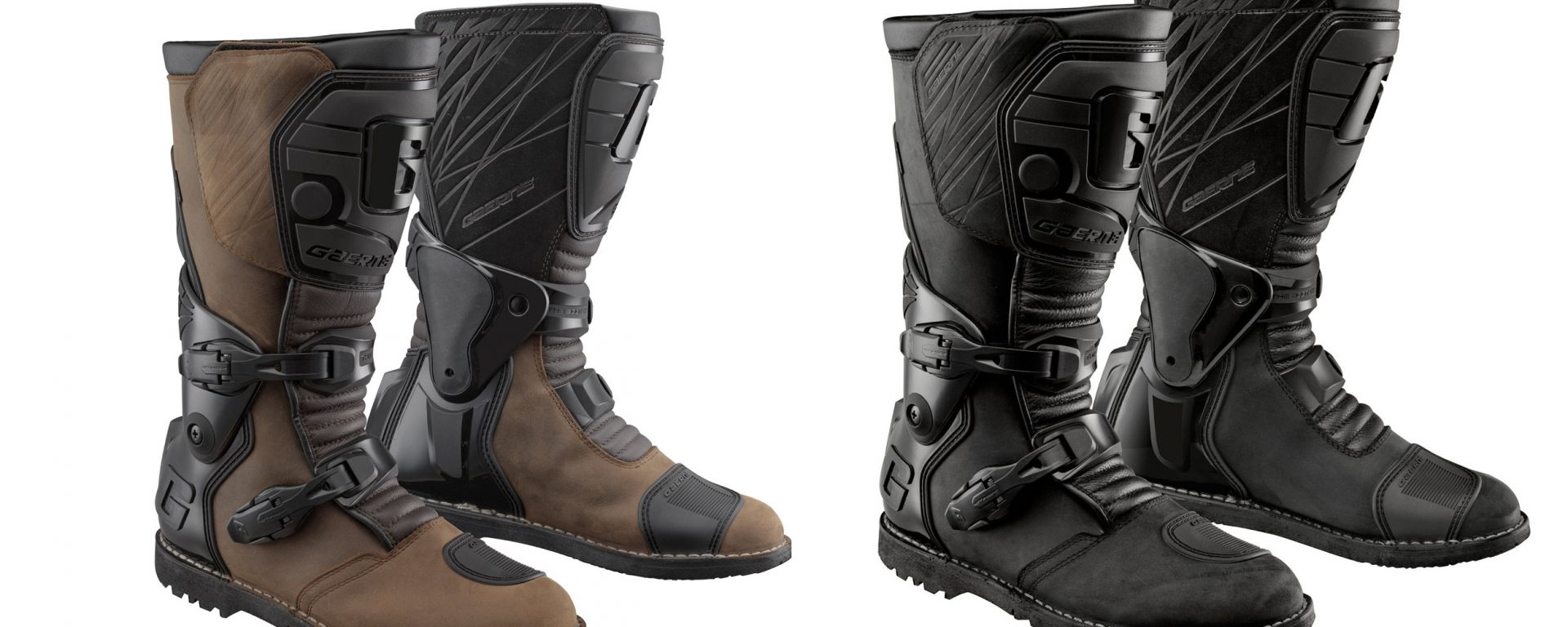 Gli stivali Gaerne G.Dakar Goretex nelle due colorazioni