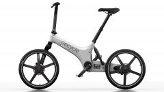 Gocycle G3 bianca: visuale laterale