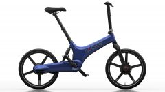 Gocycle G3 blu: visuale laterale