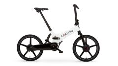 Gocycle GX 2020, colore bianco, visuale laterale
