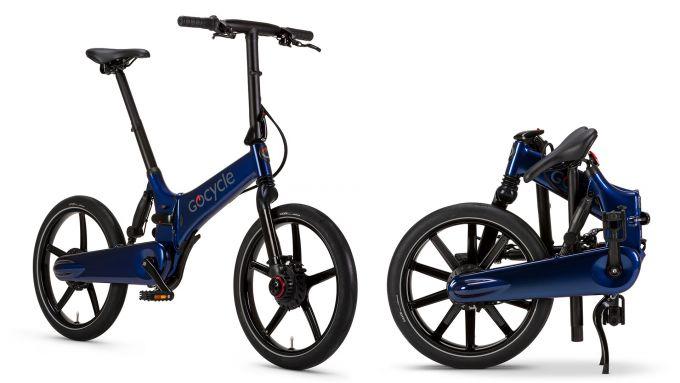 Gocycle GX 2020, colore blu, anche piegata