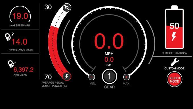GoCycle GXi: una schermata della app