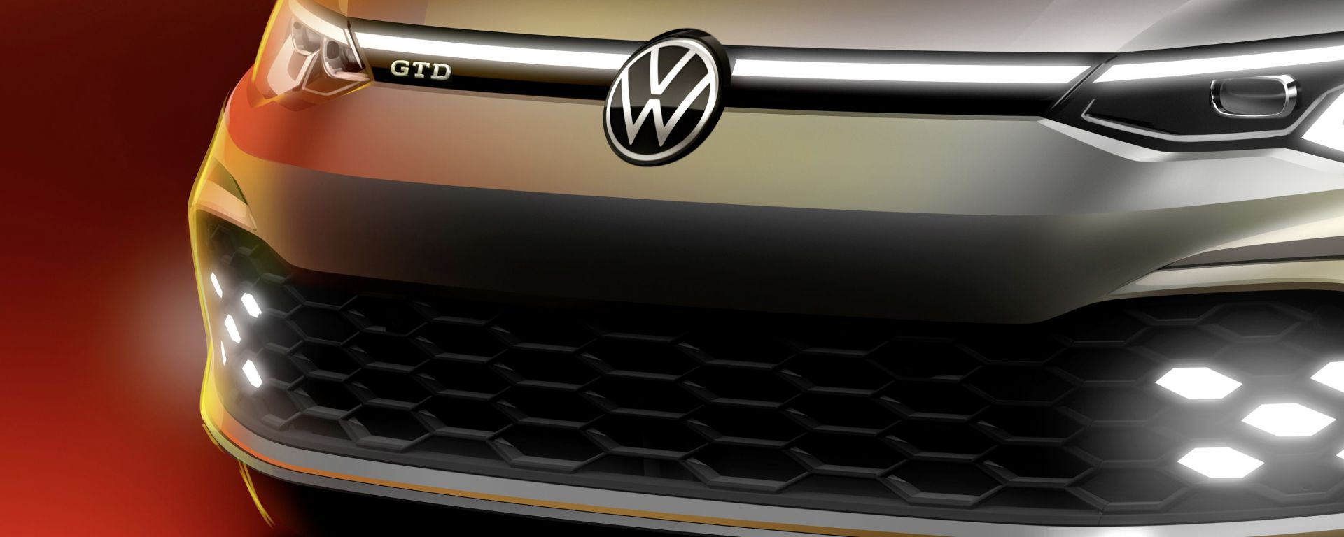 Golf GTD 2020, il teaser del frontale