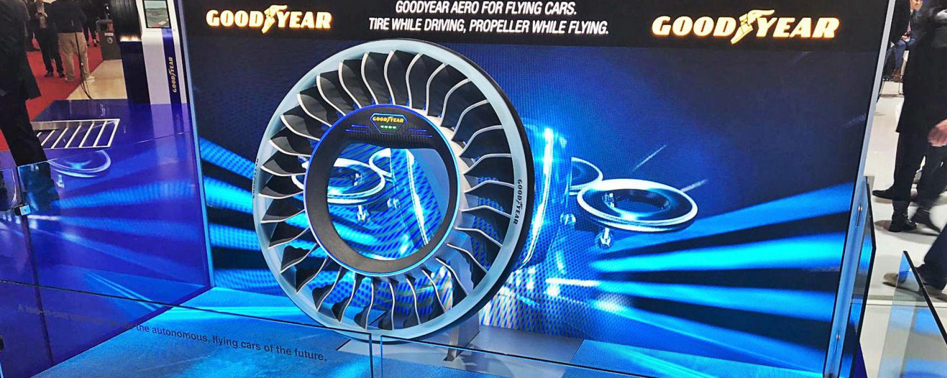 Goodyear Aero lo pneumatico smart per le auto volanti e connesse