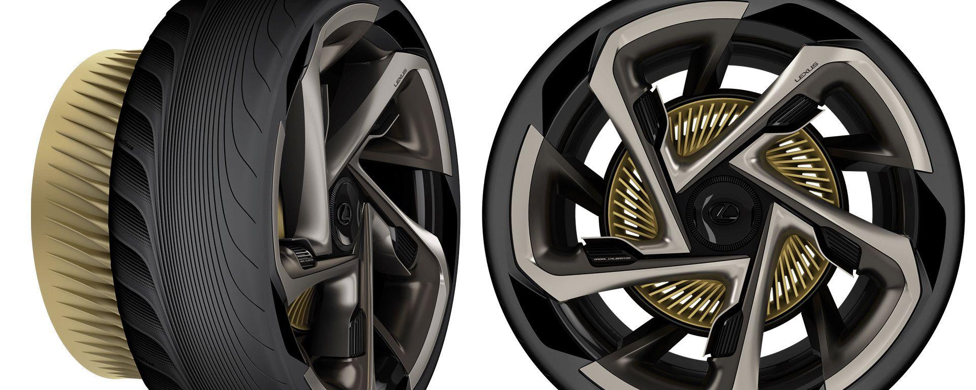 Goodyear: la Lexus SF-30 Electrified monta pneumatici concept