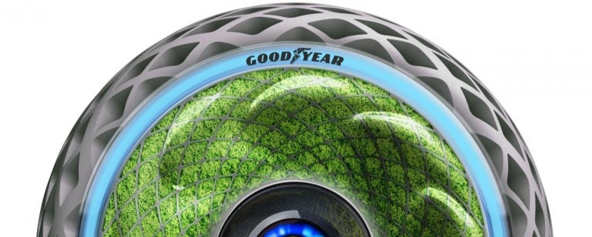 Goodyear Oxygene: il pneumatico con il muschio dentro