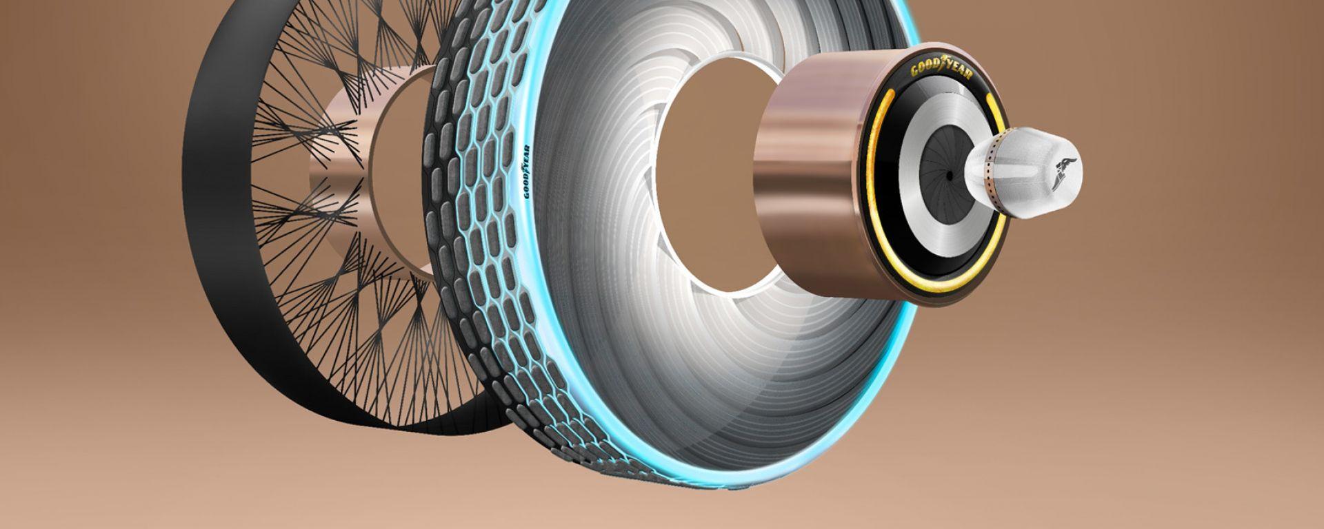 Goodyear reCharge: le componenti della ruota