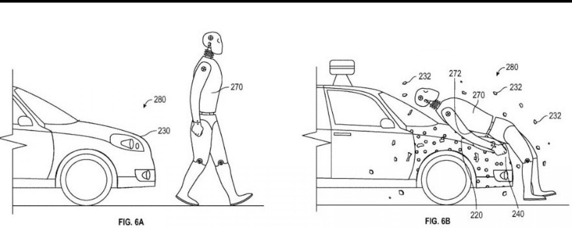 Google: un brevetto per un cofano che salva i pedoni