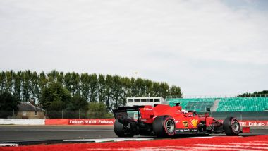 GP 70° Anniversario F1, Silverstone: Charles Leclerc (Scuderia Ferrari) in pista