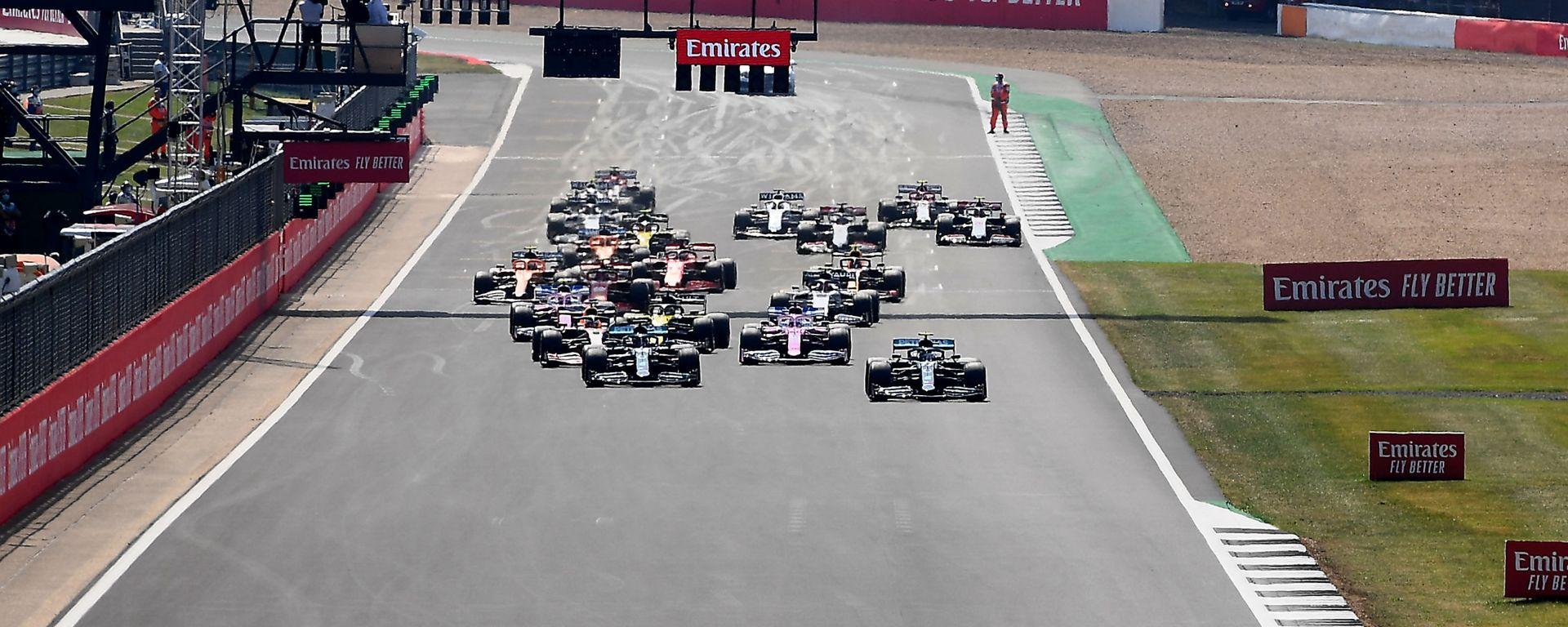 GP 70° Anniversario F1, Silverstone: la partenza della gara