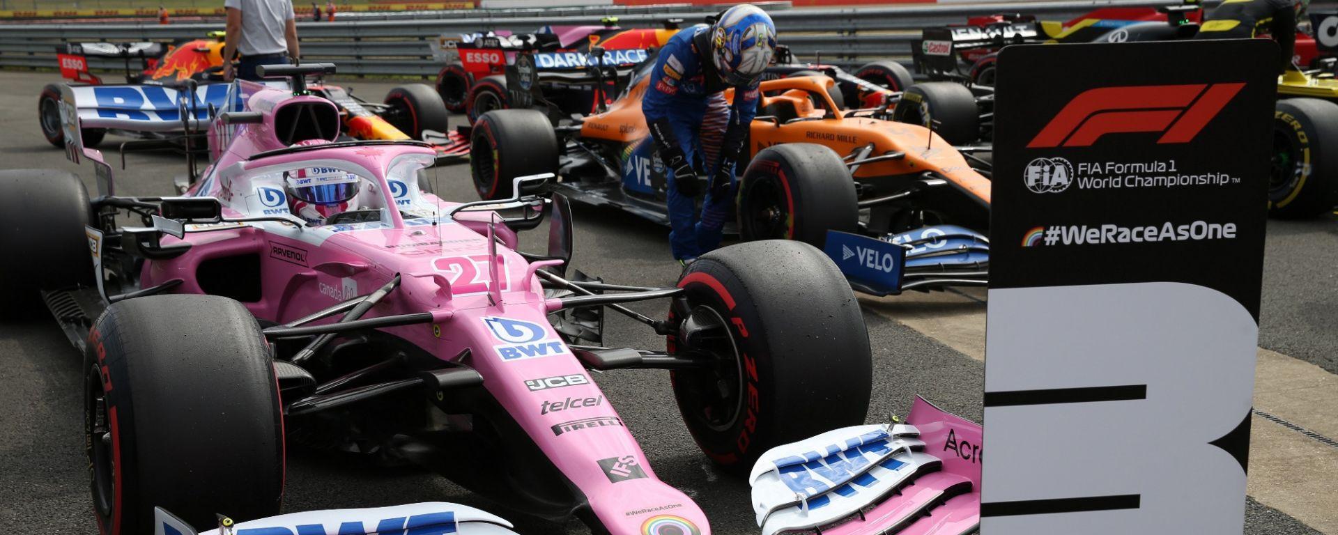 GP 70° Anniversario, Silverstone: Nico Hulkenberg parcheggia la Racing Point dopo le qualifiche