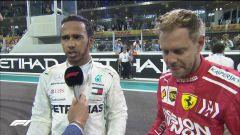 GP Abu Dhabi 2018 - Lewis Hamilton (Mercedes), Sebastian Vettel (Ferrari)
