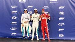 GP Abu Dhabi 2018, qualifiche: i primi tre: Hamilton tra Bottas e Vettel