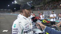 GP Abu Dhabi 2018, qualifiche: Lewis Hamilton intervistato da David Coulthard