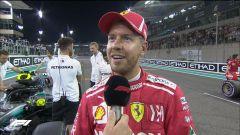 GP Abu Dhabi 2018, qualifiche: Sebastian Vettel intervistato da David Coulthard