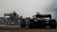 GP Abu Dhabi 2020, Yas Marina: Valtteri Bottas e Lewis Hamilton (Mercedes)