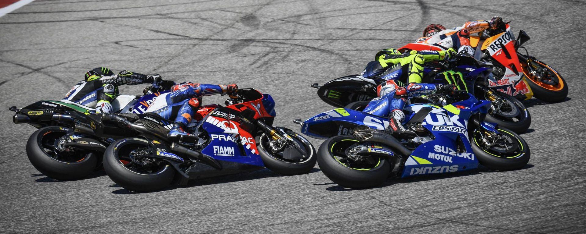 GP Americhe 2019, Crutchlow, Miller, Rins, Rossi e Marquez