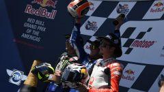 GP Americhe 2019, Valentino Rossi (Yamaha), Alex Rins (Suzuki), Jack Miller (Ducati)