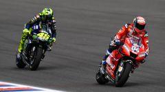 GP Argentina 2019, Rossi (Yamaha) insegue Dovizioso (Ducati)