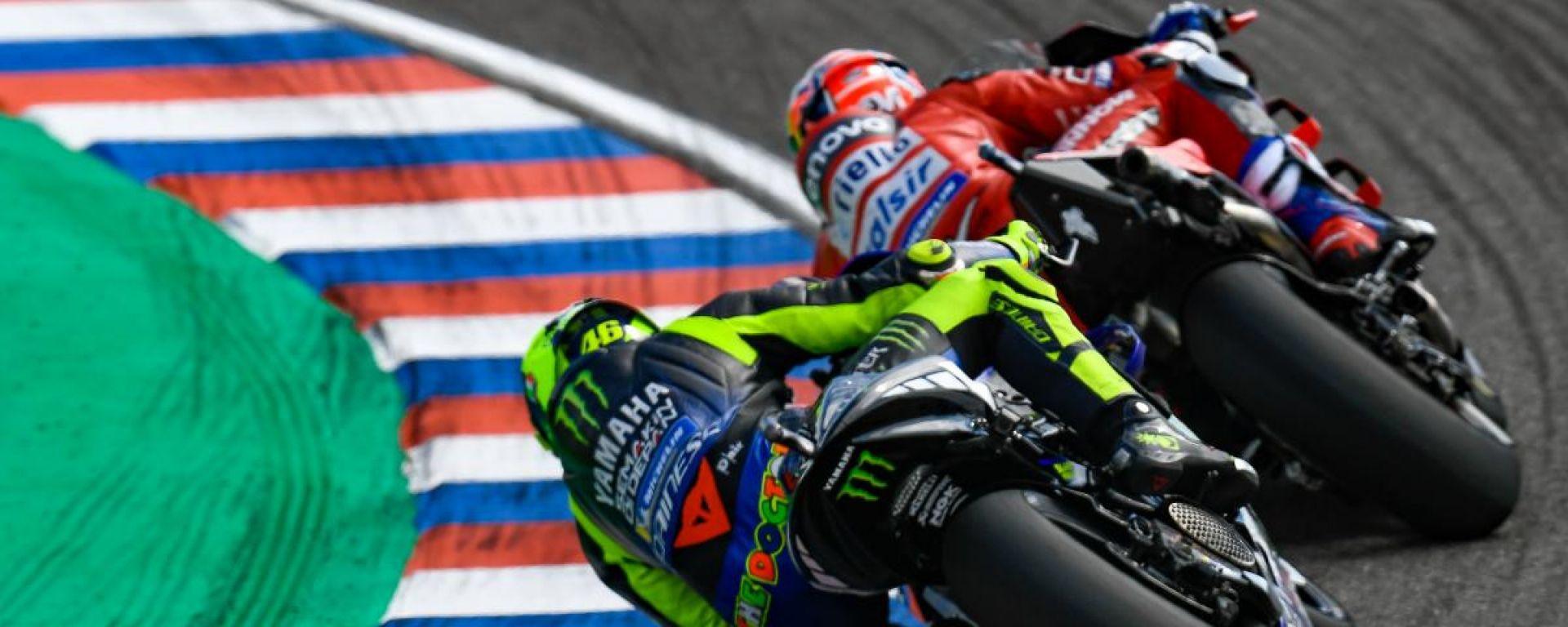 GP Argentina 2019, Termas: Valentino Rossi (Yamaha) e Andrea Dovizioso (Ducati)