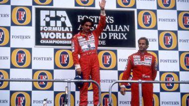 GP Australia 1991: il podio senza Nigel Mansell