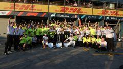 GP Australia 2019 - I festeggiamenti Mercedes per la doppietta