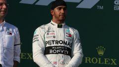 GP Australia 2019 - Lewis Hamilton deluso sul podio
