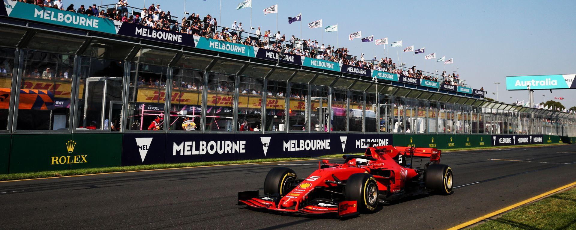 GP Australia 2019, Melbourne: Sebastian Vettel (Ferrari)