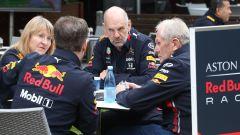 GP Australia 2019, riunione Red Bull tra Adrian Newey, Christian Horner ed Helmut Marko