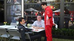GP Australia 2019, Toto Wolff (Mercedes) e Mattia Binotto (Ferrari)