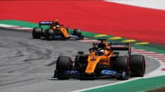 GP Austria 2019, Carlos Sainz seguito da Lando Norris (McLaren)