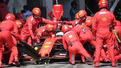 GP Austria 2019, la complicata sosta ai box di Sebastian Vettel (Ferrari)