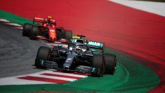 GP Austria 2019, Lewis Hamilton (Mercedes) e Charles Leclerc (Ferrari)