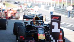 GP Austria 2019, Max Verstappen (Red Bull) arriva nel parco chiuso dopo la gara