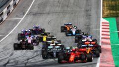 GP Austria 2019, partenza, Charles Leclerc (Ferrari)
